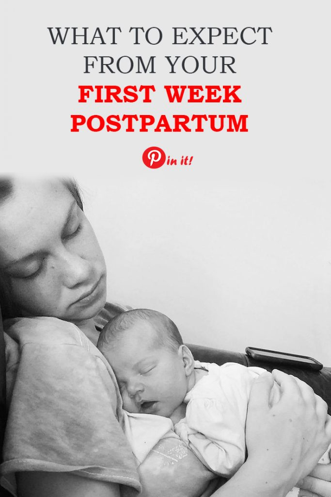 What to expect from your first week postpartum. Here's the list of 20 things you may experience right after delivery, including your physical and mental state. Find out best tips how to handle these changes. A must-read for expecting a new moms. #pregnancy #labour #delivery #breastfeeding