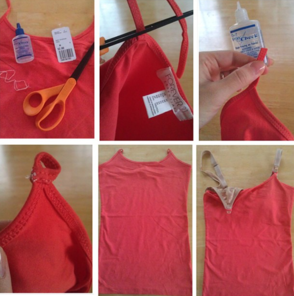 DIY nursing tank top