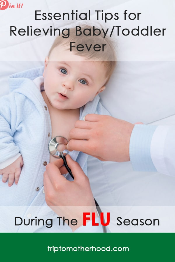 Not sure what to do when your baby/toddler is sick with the flu and has high fever that you cannot break no matter what you do? Check out this article for tried-and-true tips that will help you break baby's fever ASAP #toddlersick #babysick #feverremedies #flu #feverchart