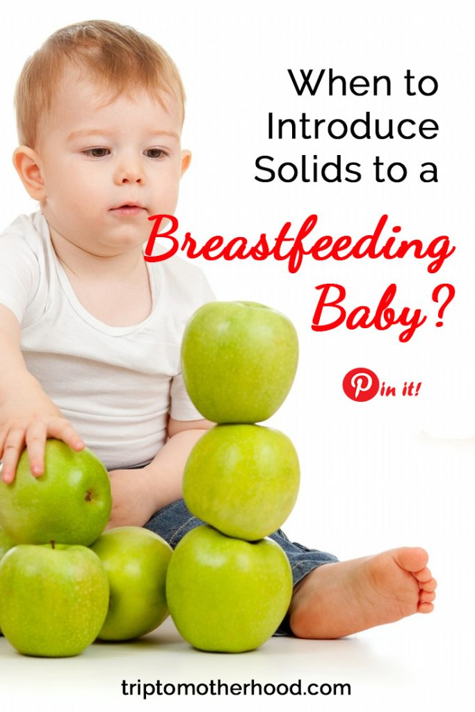 When to introduce solids to a breastfeeding baby? #breastfeeding #breastfeedingtips #weaning