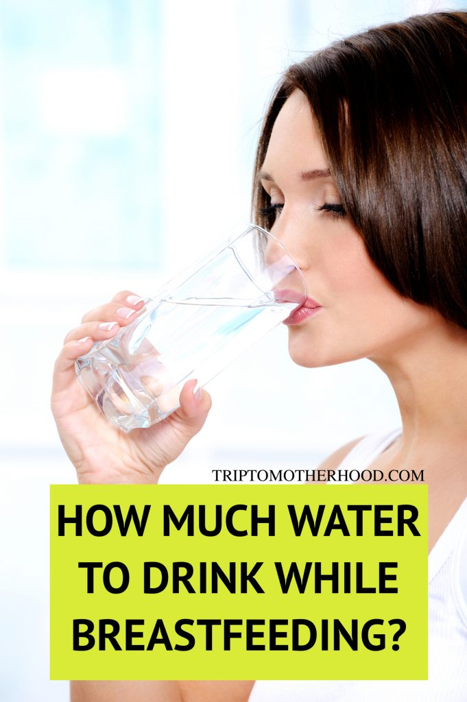 How much water to drink while breastfeeding to support adequate milk supply and avoid dehydration. What drinks to limit when breastfeeding. Why you feel so thirsty after giving birth and much more! #breastfeeding #newmomtips